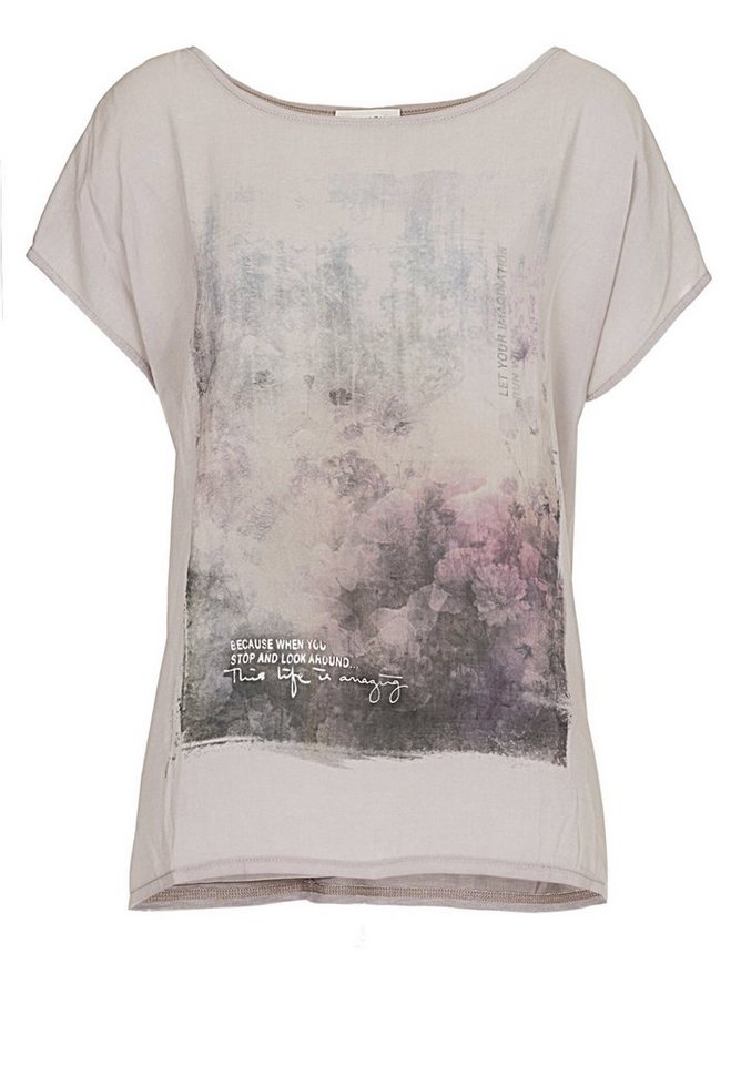 Cartoon Shirt in Lilac Marble - Pink