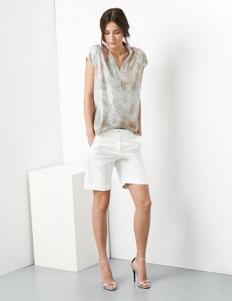 Taifun Hose »Gepflegte Bügelfalten-Short, Carina« in Off-White