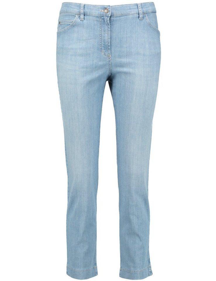 Gerry Weber Hose Jeans Sonderpassform »3/4 Hose Irina« in Bleach Denim