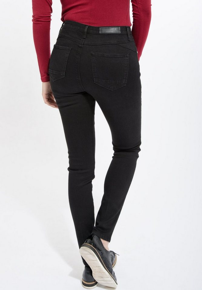 Mexx Skinny-fit-Jeans in High Waist in schwarz