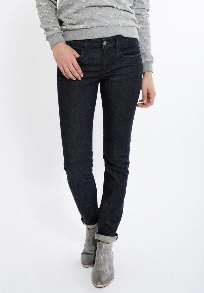 Mexx Slim-fit-Jeans zum Krempeln in dunkelblau