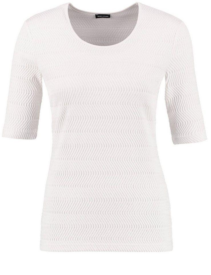 Gerry Weber T-Shirt Kurzarm Rundhals »Interessantes 1/2 Arm Shirt« in Permutt