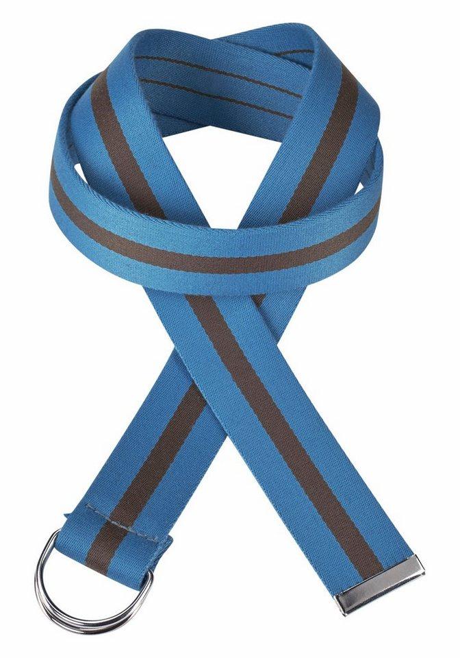 J. Jayz Stoffgürtel im Streifen-Design in blau