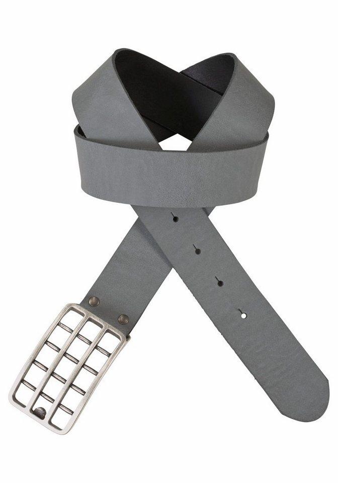 J. Jayz Koppelgürtel in markanter Gitternetzoptik in grau