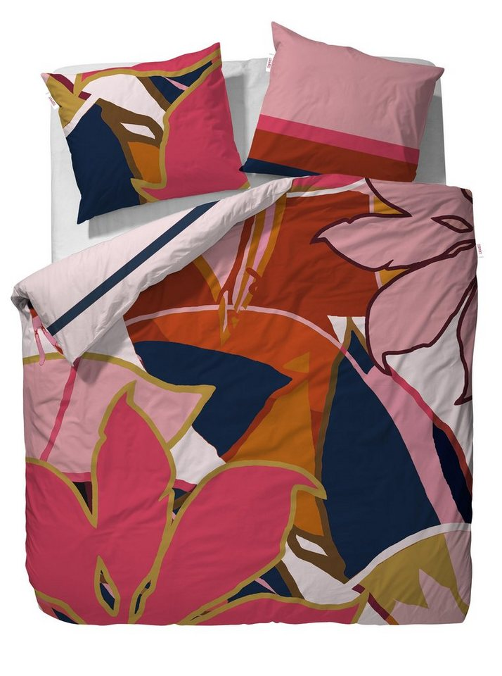 Wendebettwäsche, Esprit, »Suze«, mit großen Blüten in multi