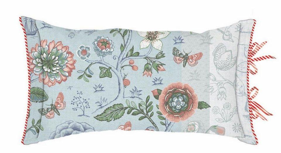 Dekokissen, PiP Studio, »Spring to life«, mit Blumen & Tieren in blau