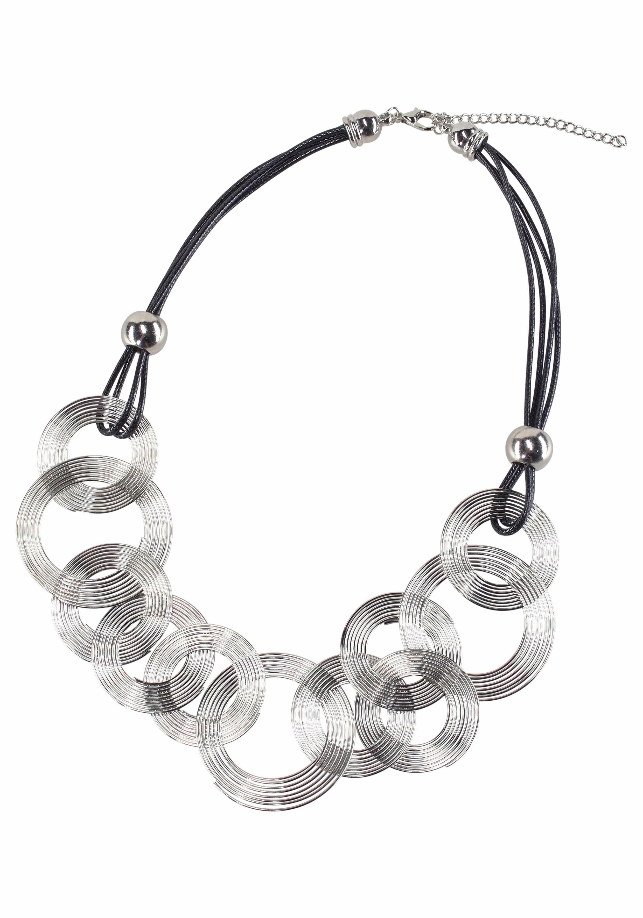 J.Jayz Halsband Textilband mehrreihig, mit Kreisen