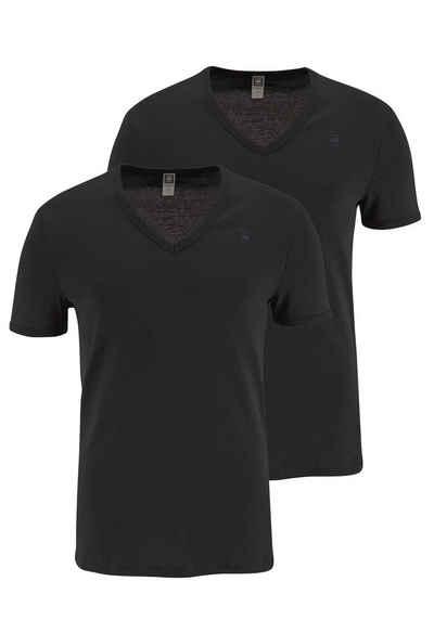 G-Star T-Shirt Basic-Artikel in blickdichter, hochwertiger Baumwollqualität (Packung, 2er-Pack)