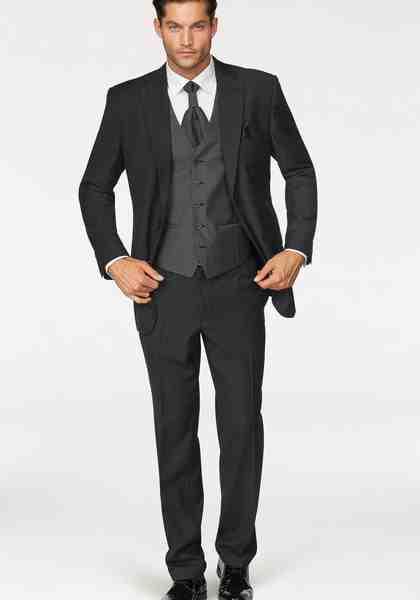 Studio Coletti Anzug 5-teilig (Set, mit Weste, mit Plastron und Einstecktuch)