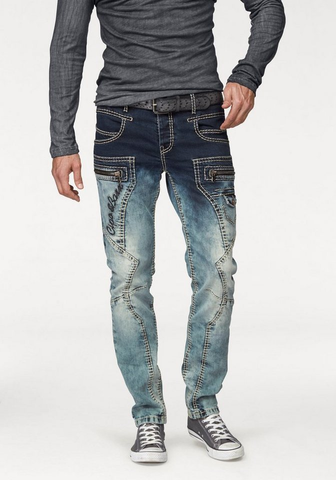 Cipo & Baxx Slim-fit-Jeans in blue-used