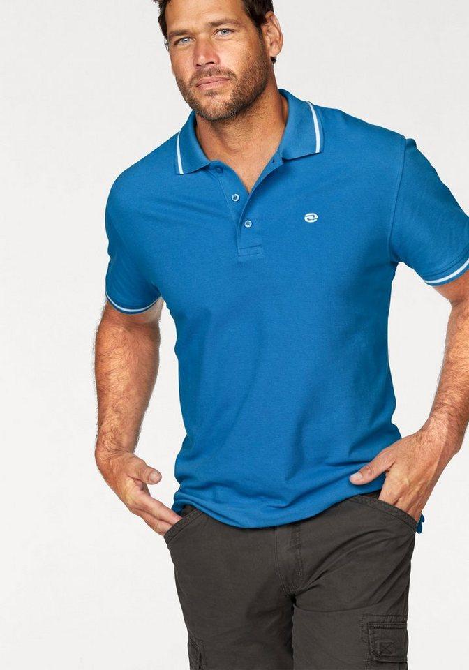 Man's World Poloshirt Piqué in blau