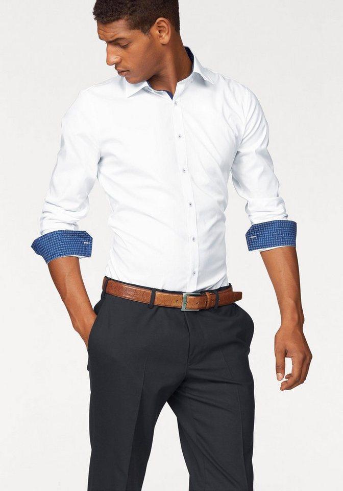 Olymp Businesshemd »No. 6, super slim« in weiß