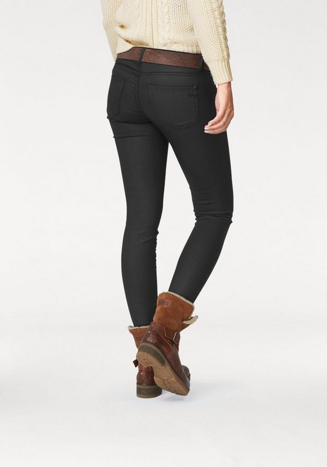 LTB Skinny-fit-Jeans »Mina« mit coating in schwarz
