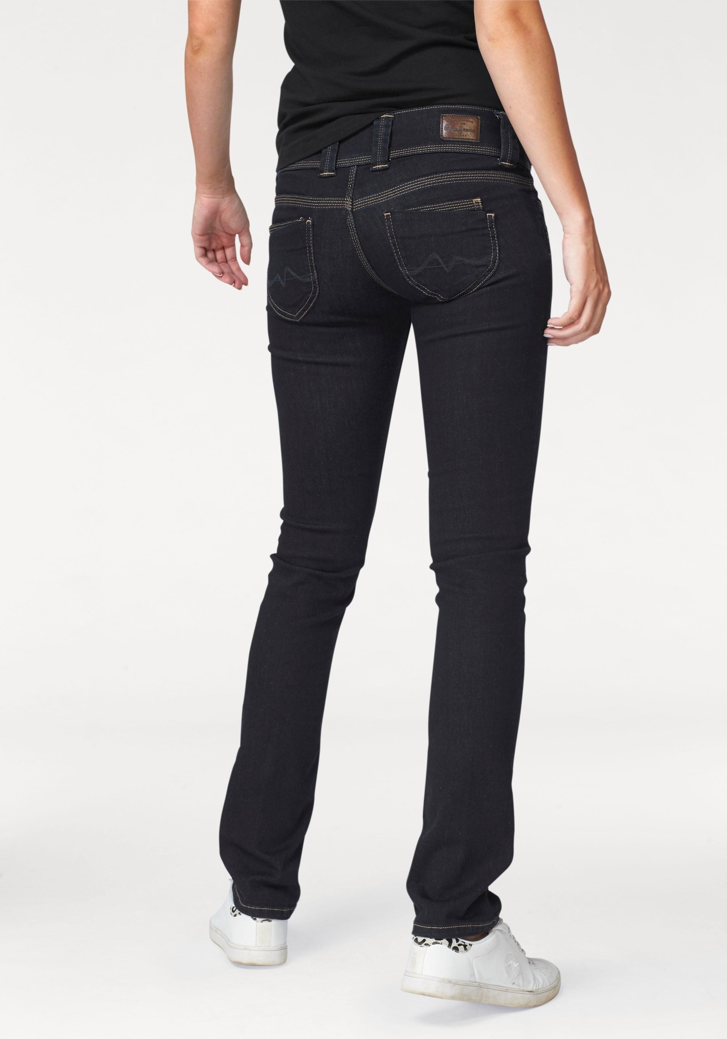 Pepe Jeans Straight-Jeans »VENUS« mit breitem 2-Knopf-Bund
