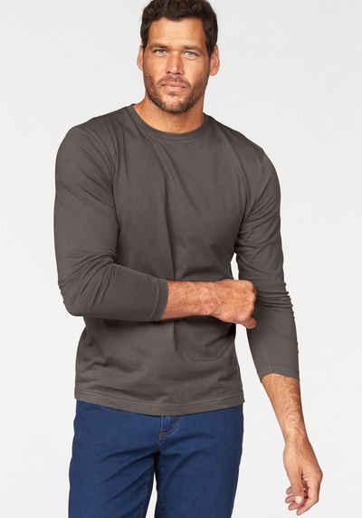 Man's World Langarmshirt (Packung, 3-tlg., 3er-Pack) aus reiner Baumwolle