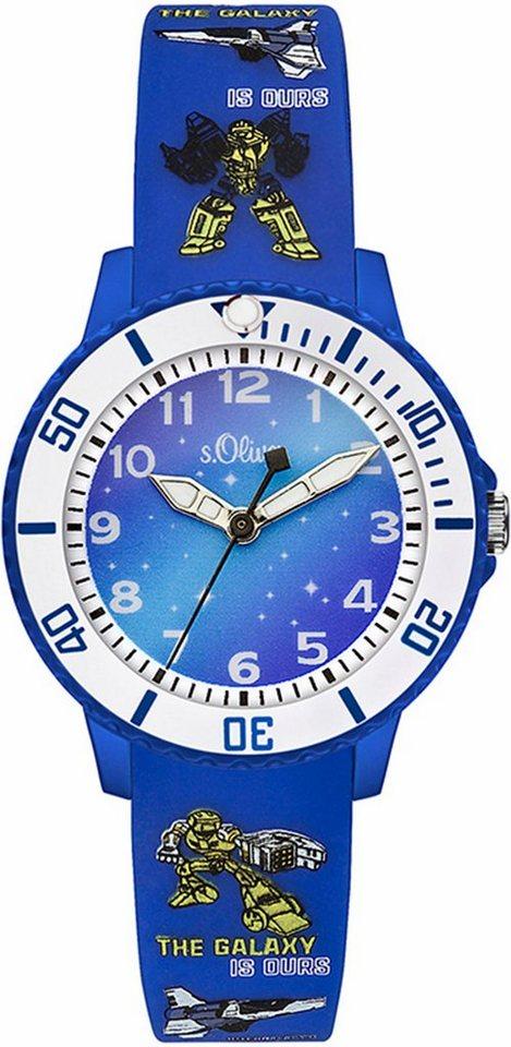 s.Oliver RED LABEL Quarzuhr »SO-3177-PQ« in blau