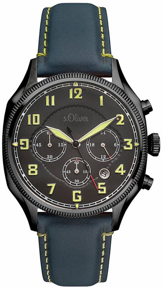 s.Oliver RED LABEL Chronograph »SO-3181-LC« in blau