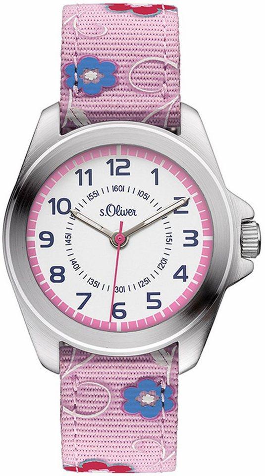 s.Oliver RED LABEL Quarzuhr »SO-3175-LQ« in rosa
