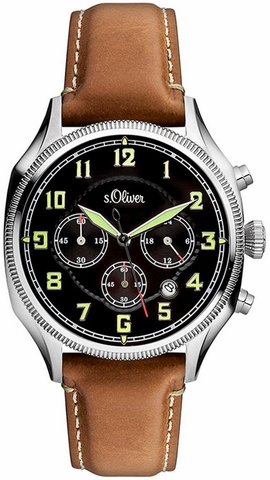 s.Oliver RED LABEL Chronograph »SO-3180-LC« in braun
