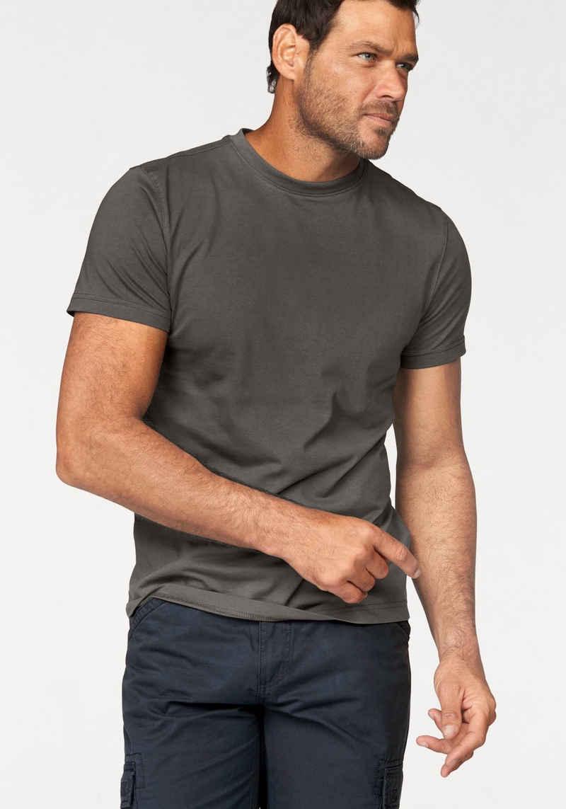 Man's World T-Shirt (Packung, 3-tlg., 3er-Pack) Basic T-Shirt mit trageangenehmer Qualität