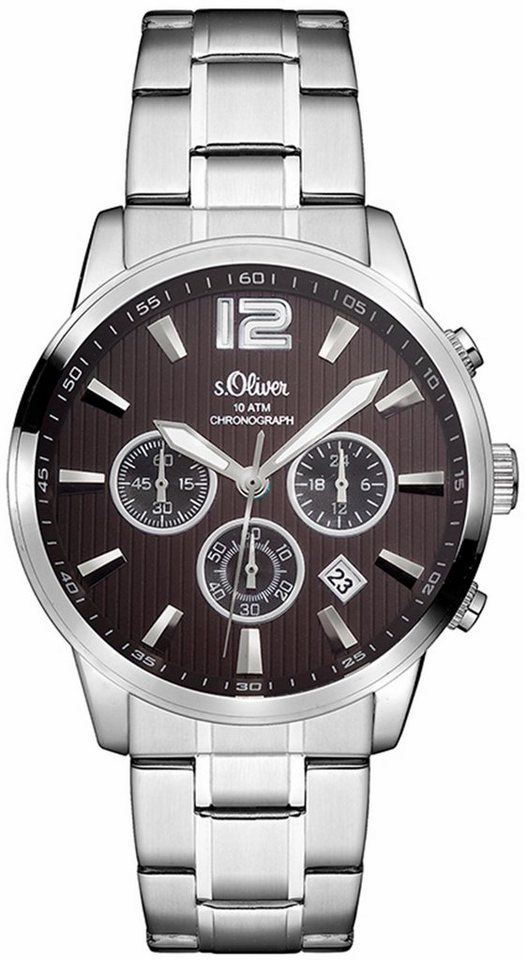 s.Oliver RED LABEL Chronograph »SO-3173-MC« in silberfarben