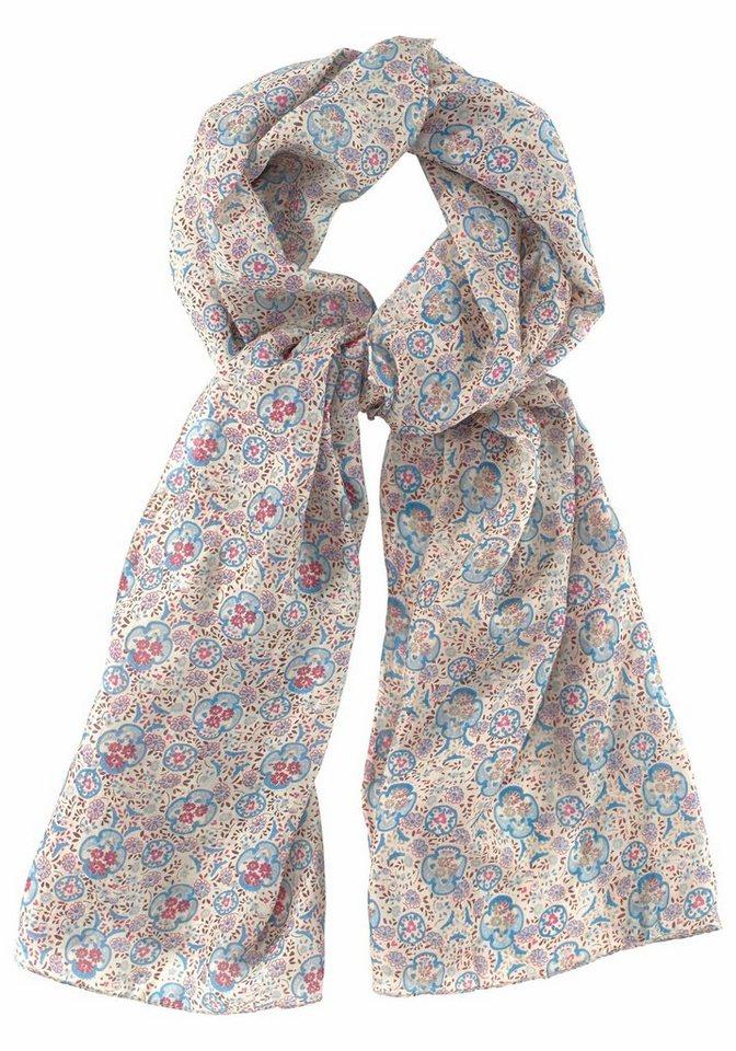 J. Jayz Seidenschal mit floralem Muster in bunt