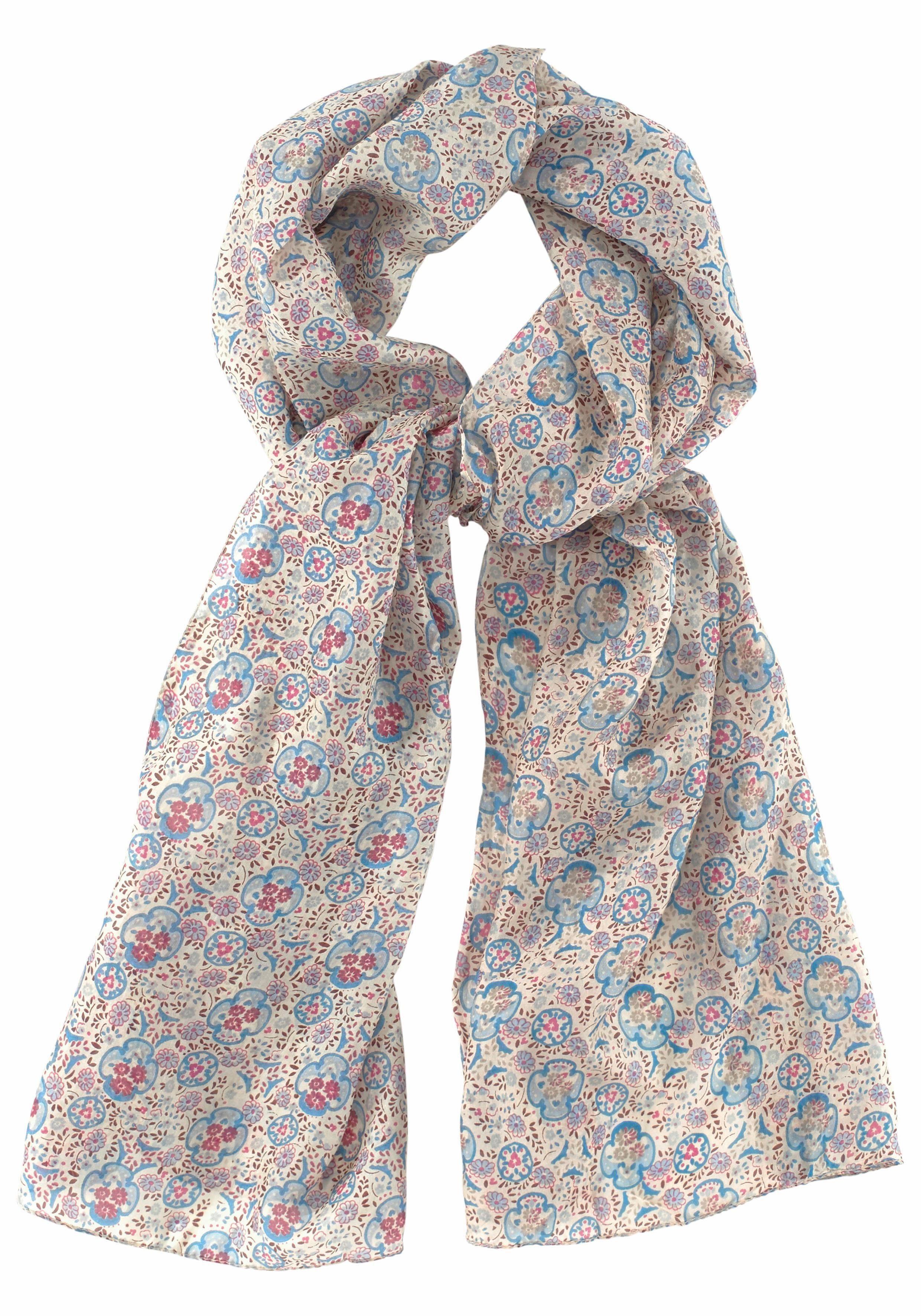 J. Jayz Seidenschal mit floralem Muster