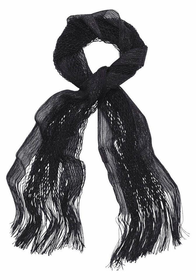 Passigatti Modeschal mit Glitzerfäden in schwarz