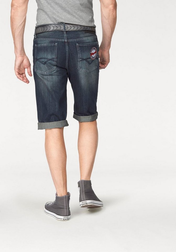 Bruno Banani Jeansbermudas in blue-used