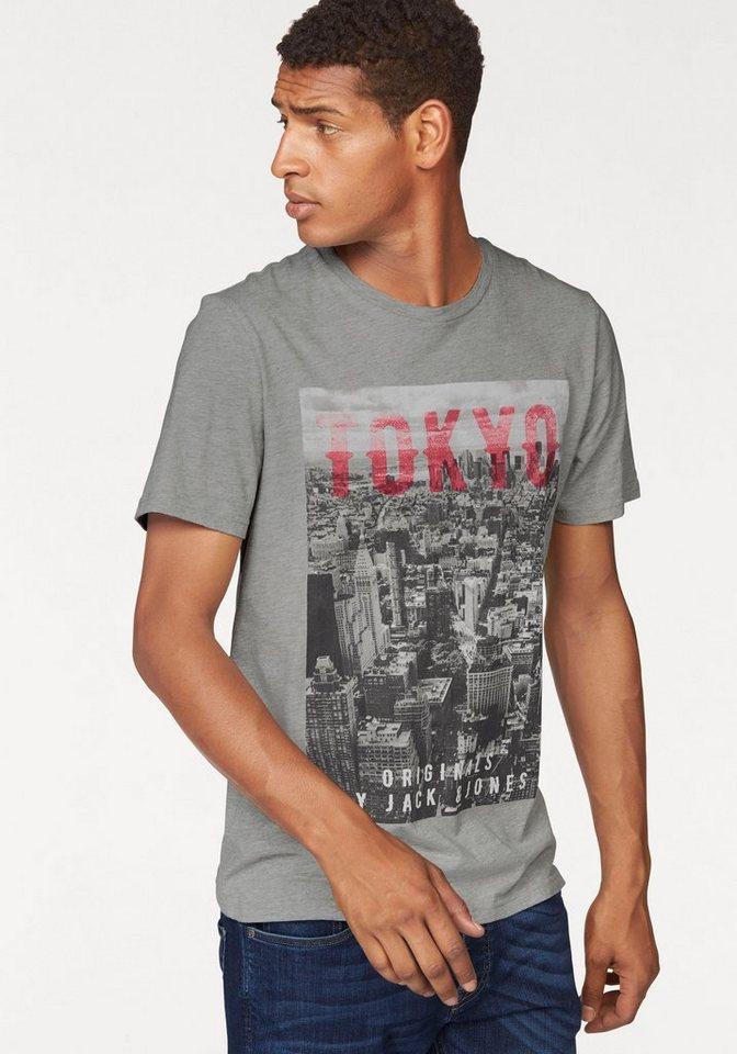 Jack & Jones T-Shirt in grau-meliert