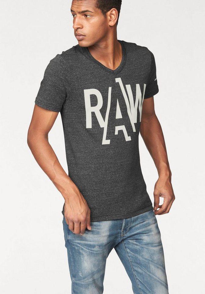 G-Star T-Shirt »Fuler« in schwarz-meliert