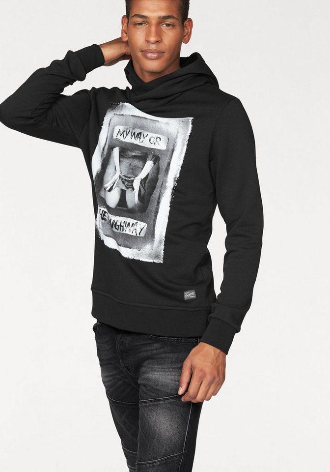 Jack & Jones Kapuzensweatshirt »Faith Sweat« in schwarz