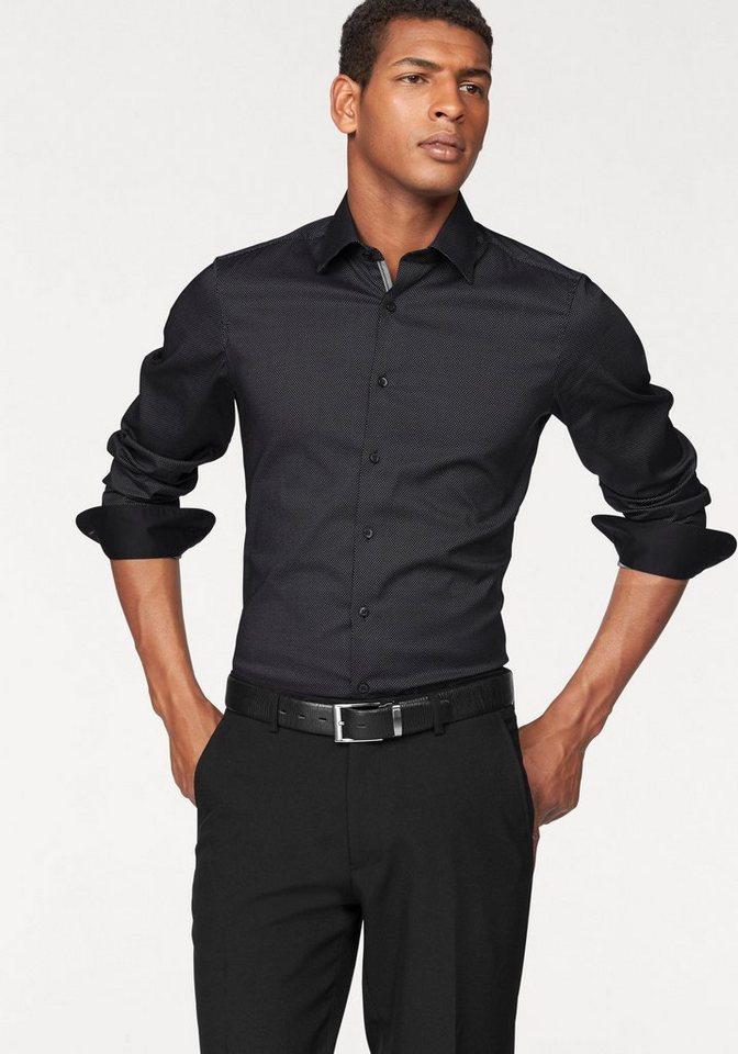 Olymp Businesshemd »Level 5, body fit« in schwarz