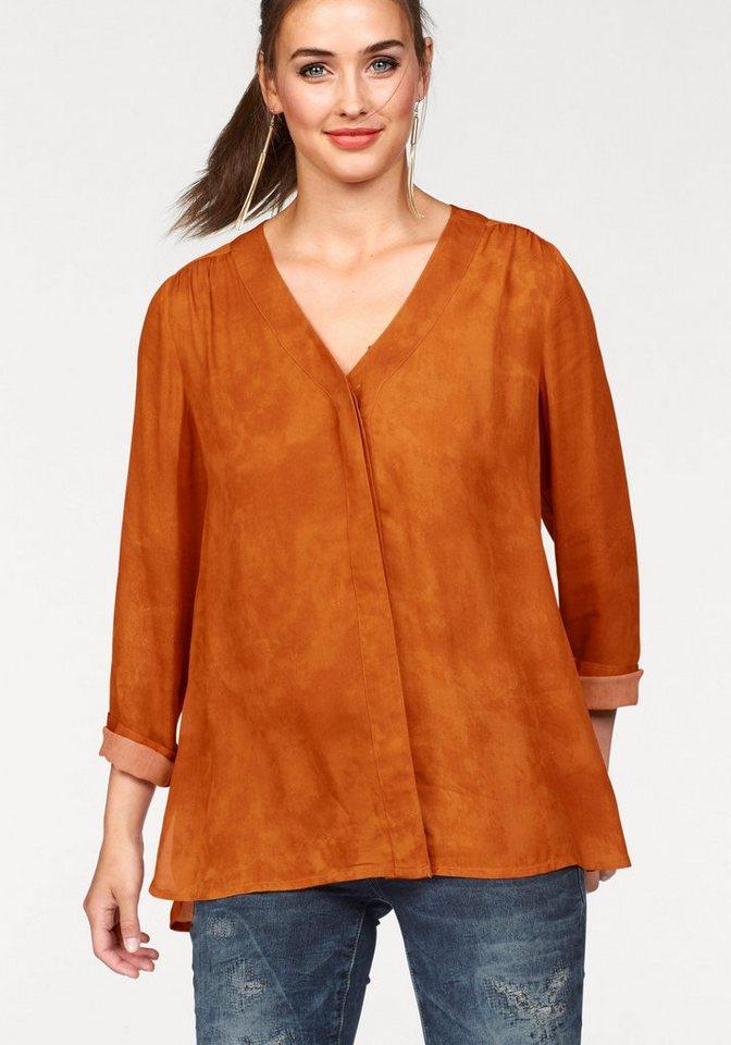Laura Scott Longbluse in orange
