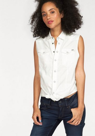 G Star Raw Denim Blouse Tacoma Straight Shirt, With Cool Division Sewn Forward