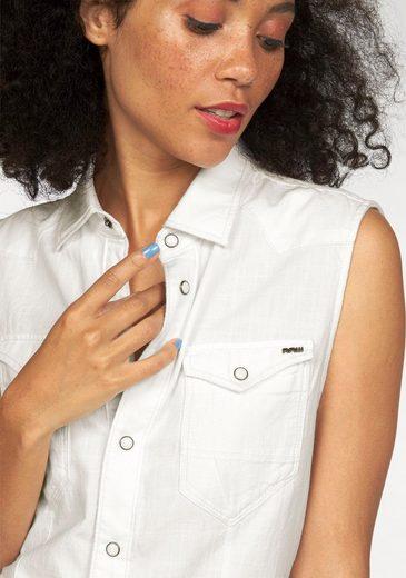G-Star RAW Jeansbluse Tacoma Straight Shirt, mit coolen Teilungsnähten vorn