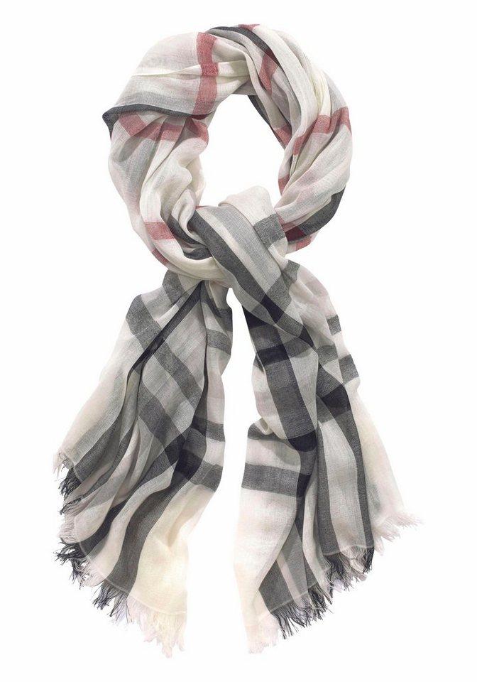 Passigatti Modeschal im Karo-Design in schwarz-weiß
