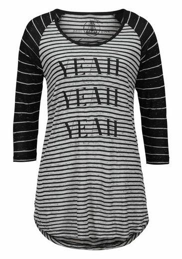 Herrlicher 3/4-Arm-Shirt Emilia, mit Frontprint