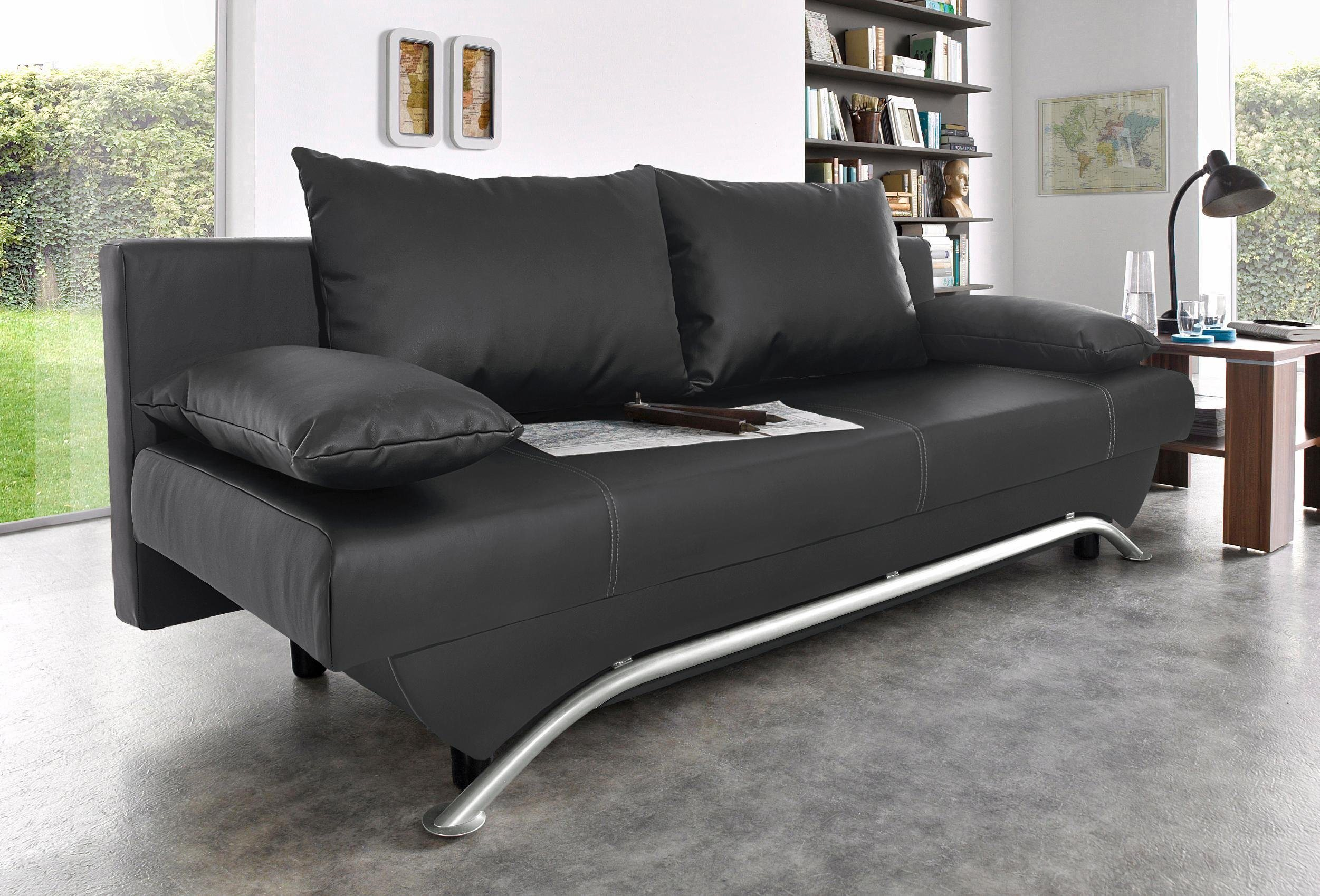 Places of Style Schlafsofa | Wohnzimmer > Sofas & Couches > Schlafsofas | Microfaser - Kunstleder | Places of Style