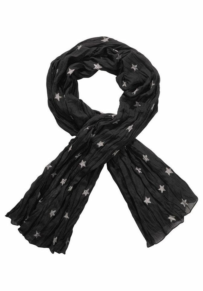 Passigatti Modeschal mit Sternen in schwarz