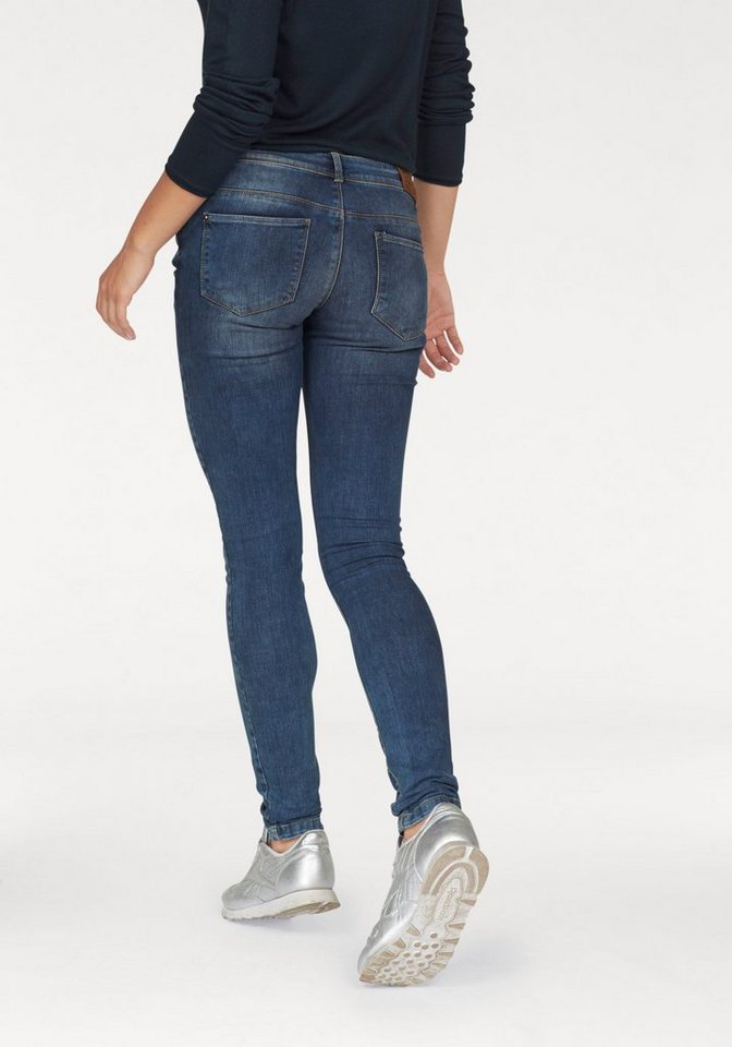 Only Destroyed-Jeans »Coral« mit offem Saum in blue-stone