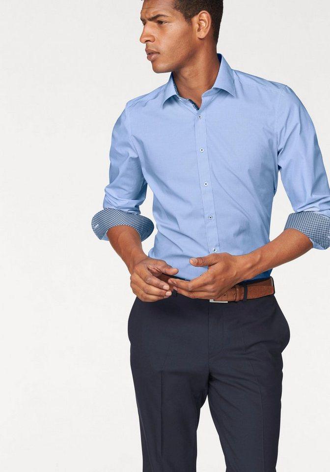 Olymp Businesshemd »Level 5, body fit« Mit extra langem Ärrmel in hellblau