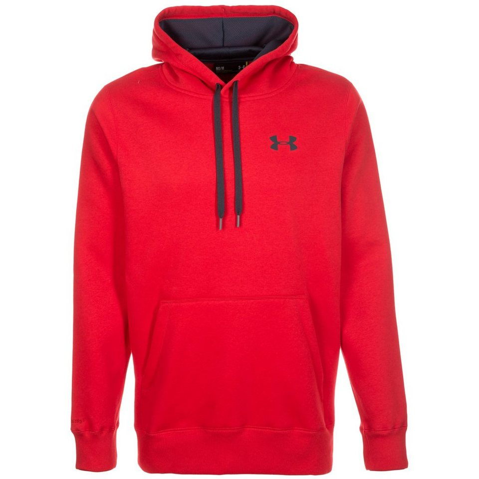 Under Armour® ColdGear Rival Storm Trainingskapuzenpullover Herren in rot