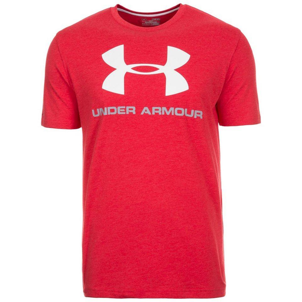 Under Armour® HeatGear CC Sportstyle Logo Trainingsshirt Herren in rot / weiß / grau