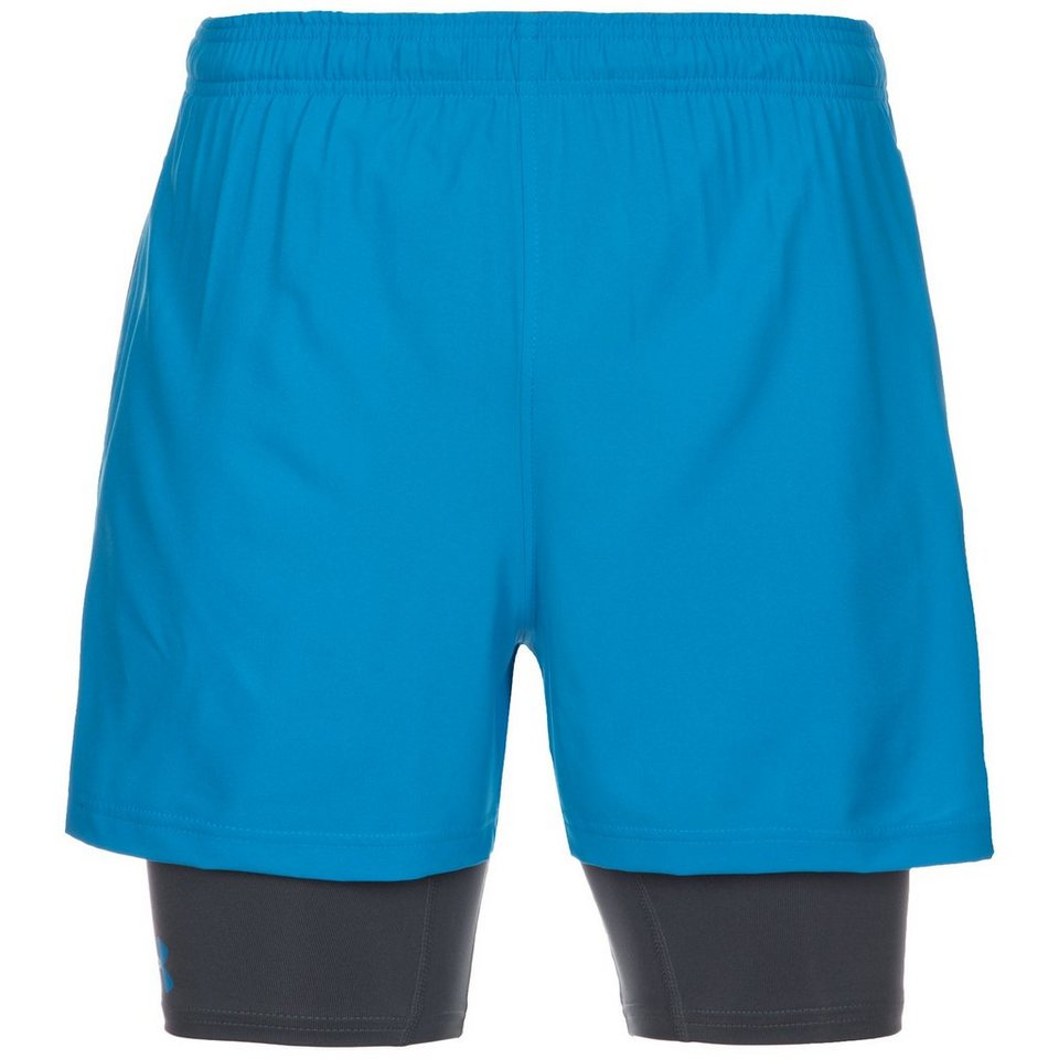 Under Armour® HeatGear Mirage 2-in-1 Trainingsshort Herren in hellblau / grau