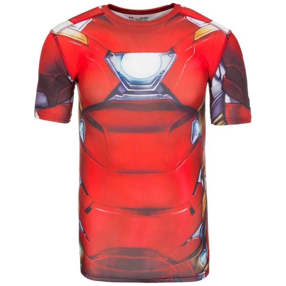 Under Armour® HeatGear Iron Man Suit Trainingsshirt Herren in rot / weiß