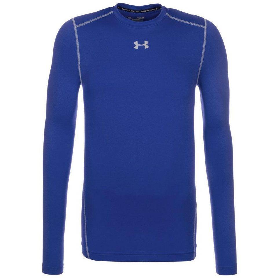 Under Armour® ColdGear Compression Crew Trainingsshirt Herren in blau / grau