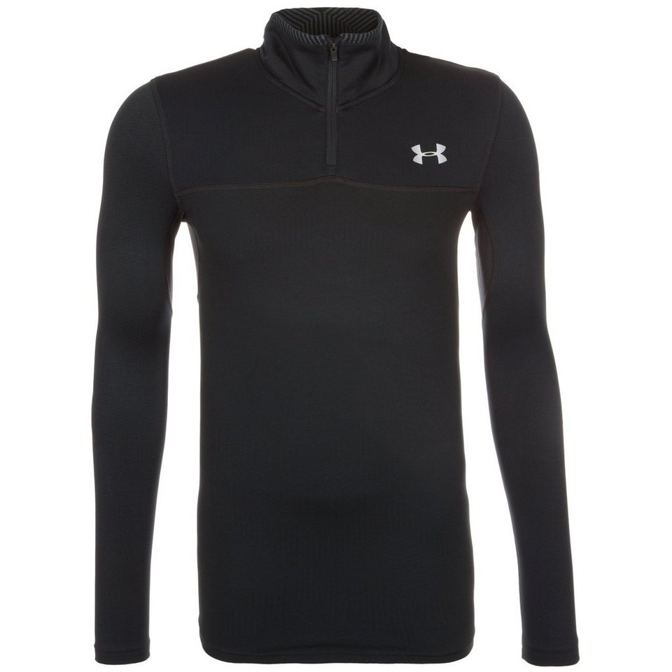 Under Armour® ColdGear Infrared Storm Trainingslongsleeve Herren in schwarz
