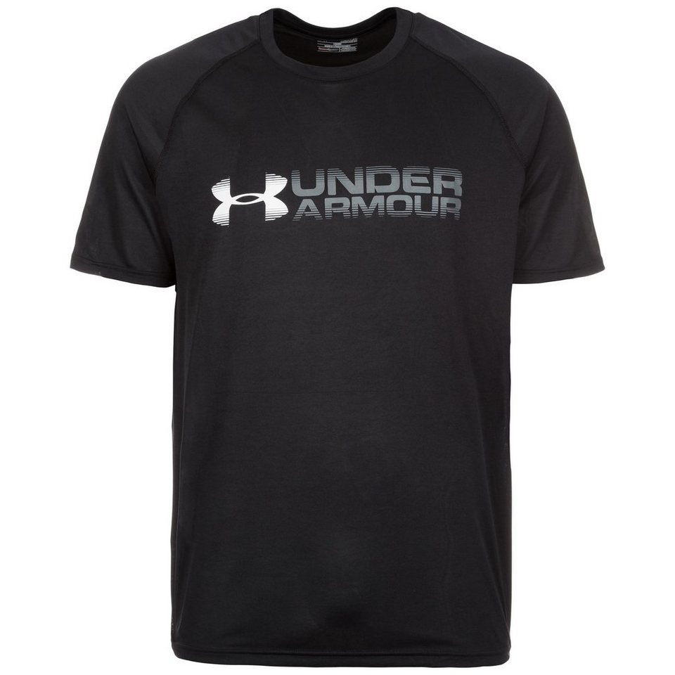 Under Armour® HeatGear Fade Away Trainingsshirt Herren in schwarz / weiß
