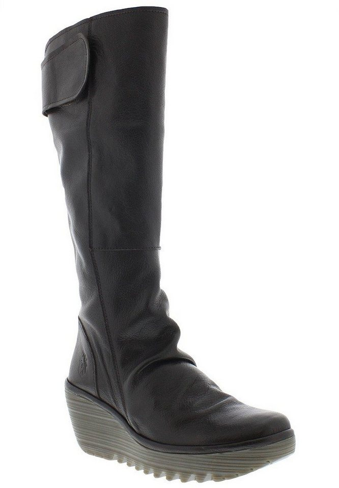 FLY LONDON klassischer Stiefel »YULO688FLY mousse« in dunkelbraun